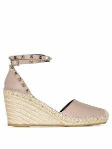 Valentino Valentino Garavani Rockstud 85mm wedge sandals - NEUTRALS