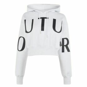 Versace Jeans Couture Cropped Logo Hoodie