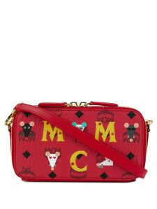 MCM Camera logo zipped bag - Red
