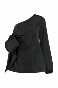 N.21 Techno Satin One-shoulder Blouse