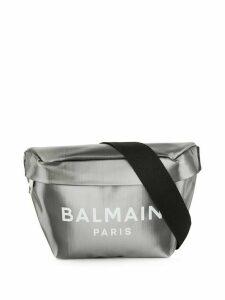 Balmain logo metallic belt bag - SILVER