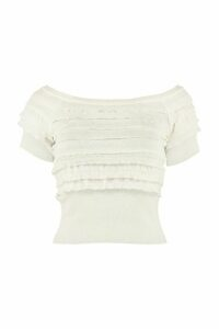 Philosophy di Lorenzo Serafini Knitted Viscosa-blend Top