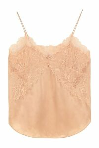 IRO Branda Lace Trim Silk Top