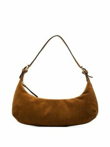 BY FAR Mara curved shoulder bag - Brown