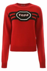 Miu Miu Logo Embroidery Sweater