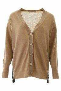 Stella McCartney Cardigan With Logo Bands