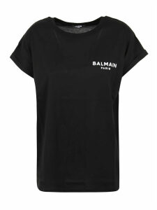 Balmain Ss Flocked Logo Detail T-shirt