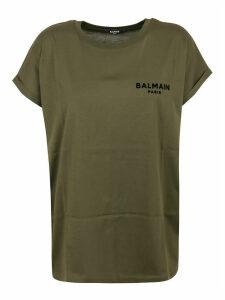 Balmain Ss Flocked Logo Detail T-shirt