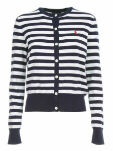 Polo Ralph Lauren Cardigan L/s Crew Neck Cotton Stretch