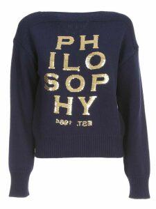 Philosophy di Lorenzo Serafini Sweater L/s Crew Neck Logo Paillettes