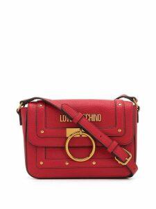 Love Moschino stud-embellished crossbody bag - Red