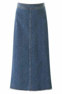 Philosophy di Lorenzo Serafini Denim Midi Skirt