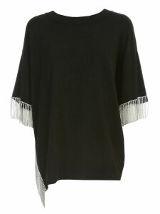 TwinSet Sweater S/s W/strass Fringes