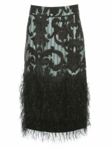 Ganni Feathery Cotton Skirt A Line