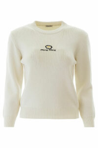 Miu Miu Daisy Embroidery Sweater