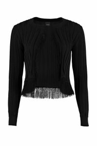 Pinko Berice Fringed Cropped-length Cardigan