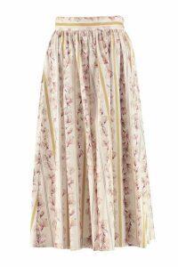 Forte Forte Printed Cotton Skirt