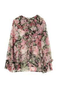 Parosh Printed Blouse With Ruffles