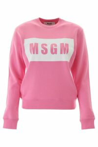 MSGM Golden Logo Box Sweatshirt