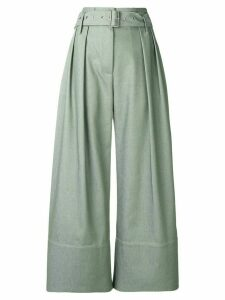Eudon Choi cropped palazzo trousers - Green
