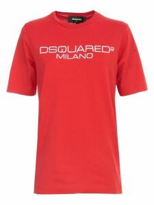 Dsquared2 Renny Fit T-shirt S/s Wash W/written
