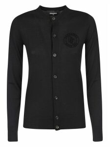 Dsquared2 Ribbed Logo Cardigan