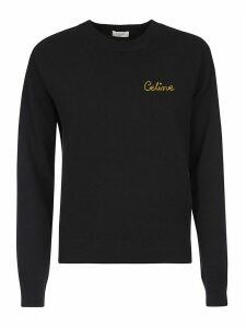 Celine Logo Embroidered Sweater