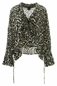 Pinko Uniqueness Zebra-printed Blouse