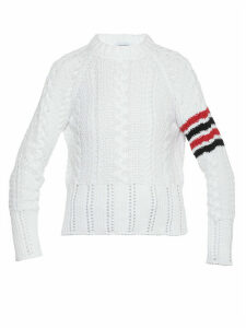 Thom Browne Aran Cable Classic Sweater