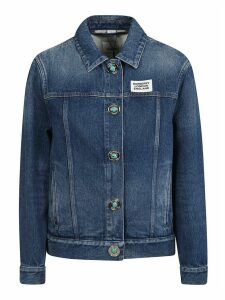 Burberry Denim Logo Patch Buttoned Jacket