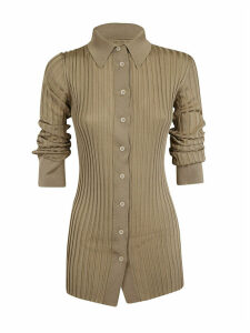 Bottega Veneta Ribbed Buttoned Shirt