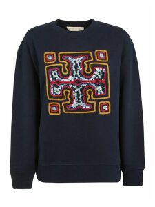 Tory Burch Sequined Logo Sweatshirt
