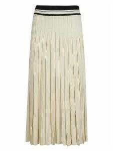 Tory Burch Pleated Long Straight Waist Skirt