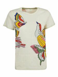 Tory Burch Bird & Butterfly Print T-shirt