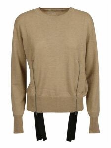 Stella McCartney Round Neck Side Zipped Detail Sweater