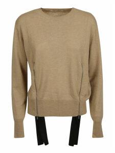 Stella McCartney Round Neck Side Zipped Detail Sweater