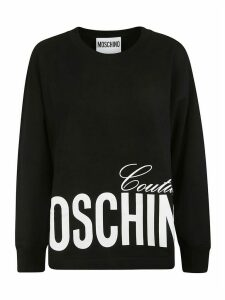Moschino Bottom Logo Print Sweatshirt