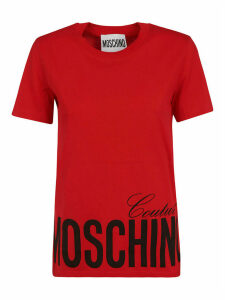 Moschino Bottom Logo Print T-shirt