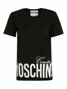Moschino Bottom Logo Print T-shirt