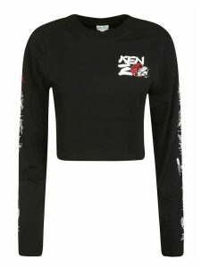 Kenzo Sleeve Printed Detail Sweater