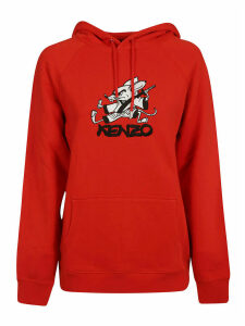 Kenzo Mouse Logo Print Hoodie