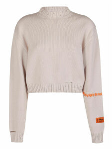 HERON PRESTON Distressed Knitted Jumper