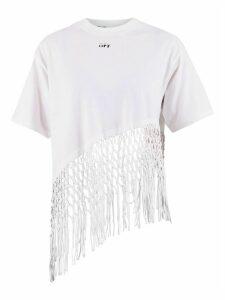 Off-White Fringed T-shirt