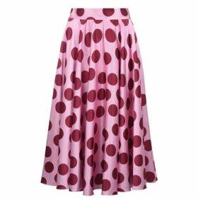 Dolce and Gabbana Polka Dot Midi Skirt