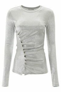 Paco Rabanne Draped Lurex Top