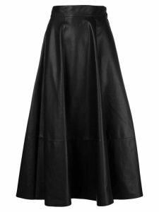 Loewe high waisted full skirt - Black