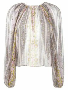 Giambattista Valli printed balloon-sleeved blouse - Multicolour