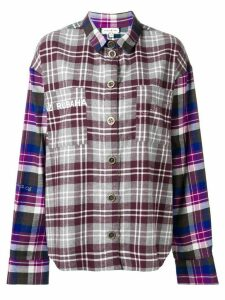 Natasha Zinko oversized check shirt - PURPLE