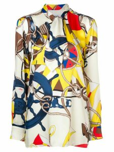 MSGM all-over print blouse - White