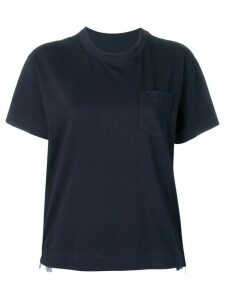 Sacai chest pocket T-shirt - Blue